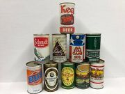Vintage Beer And Soda Can Lot