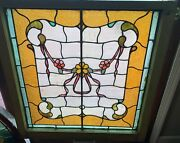 Bottom Sash Antique Stained Glass Window