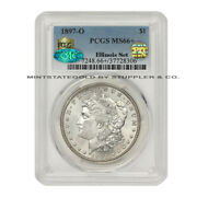 1897-o 1 Silver Morgan Dollar Pcgs Ms66+ Pq Approved Cac Certified Illinois Set