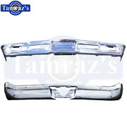 1966 66 Chevelle And Malibu Front And Rear Bumper Kit Triple Chrome New