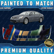 New Painted To Match Front Bumper Cover For 2007-2008 Nissan Maxima Se Sl 07-08