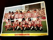 Vintage Rare Greek Olympiakos Football Team Poster From Early 90s