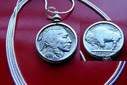 Finer Quality 1937 Nicer Buffalo Nickel On A 30 925 Sterling Silver Snake Chain