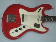 Used 1960s Teisco Del Rey Red Japanese Name Pleasant Sev -218 Free Shipping