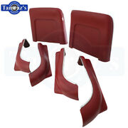 1968 Gm A Body Front Bucket Seat Bottom And Back Panel Set - 6 Pieces New