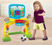 Vtech Smart Shots Sports Center Learning Toy,sports Toy 2 In 1 Basketball Soccer