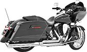 Freedom Union 2-into-1 Exhaust-chrome For Harley-davidson Bagger 95-14 Hd00232