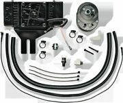 Horizontal Low-mount 10 Row Fan-assisted Oil Cooler Kit Black Jagg 751-fp2500