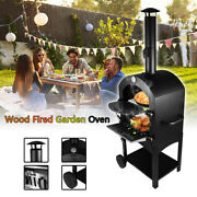 Bbq Pizza Oven Outdoor Wood Fired Grill Barbecues Outdoor Family Party Dinner Us
