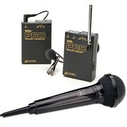 Azden Wms-pro Vhf Wireless Microphone System For Video Camera Includes 2micropho