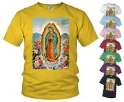Catholic T-shirt Our Lady Of Guadalupe V1 Virgin Mary All Sizes
