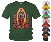 Catholic T-shirt Our Lady Of Guadalupe V3 Virgin Mary All Sizes