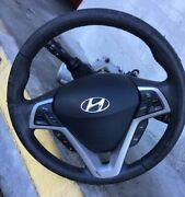 2013-2017 Hyundai Veloster Complete Steering Wheel Assembly With Airbag Oem