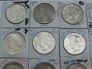 Roll-mixed 1922-s Through 1935-s Peace Silver Dollars-22-s25-s26-d35s Etc.