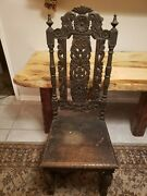 Antique/vintage Hand Carved Wood Chair