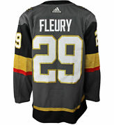 Marc-andre Fleury Vegas Golden Knights Adidas Authentic Home Nhl Hockey Jerse...