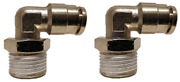 Air Suspension System 2 Fittings 90° 1/2npt Male To 1/2 Air Hose Push In Bag