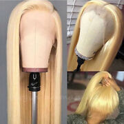 Blonde 360 Lace Frontal Wigs Peruvian Remy Human Hair Full Lace Wig Ponytail Bun