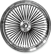18x3.5 Dual Disc 0203-0354 Fat Daddy Black 50 Spoke Radially Laced Front Wheel