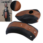 Fuel Gas Tank Leather Cover Fender Protector Fit For Sportster Iron 883 Brown