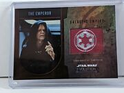 Topps 2016 Star Wars Evolution The Emperor Red 1/1 Flag Patch