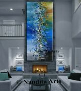 Jackson Pollock Abstract Expressionist Painting Blue Wall Art Signed By Nandita
