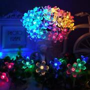 Solar Lamps Led String Lights 7m 50led With Cherry Blossoms Garland Christmas