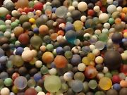 100 Vintage Glass Beach Sea Frosted Marbles Old Toys Gift Collector Display