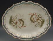 Sterling China Limoges China C.1910 Oval Platter Fish Carp Luster