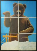 3 Posters Teddy - Rochelle - Newspaper Of July Pooh New - 1970 - Pop