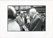 Jean Luc Godard And Louis Aragon 13 May 1968 - Proof Analogue Vintage