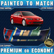 New Painted To Match Front Bumper Cover Fascia For 2006-2008 Mazda 6 Sedan Hatch