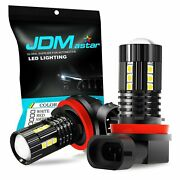 Jdm Astar 2x 15-smd Extremely Bright H11 1600lm Led Fog Light Bulb Yellow 3030