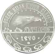 1990 Black Hills Motor Classic Sturgis .999 Silver 1 Ozt. With Capsule 01140