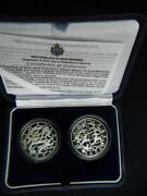 2003 San Marino 2 Silver Coins 5/10 Unc/proof Greece Olympic Game