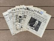 Wwii U.s. Newspaper Front Page Headline Covers 9 Pages U.s. Declares War Nice