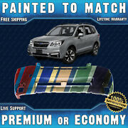 New Painted To Match Front Bumper Replacement For 2017 2018 Subaru Forester 2.5l