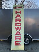 Large Original 1967 Vintage True Value Hardware Sign Old Vertical 10and039 Tall Store