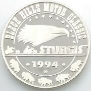1994 Black Hills Motor Classic Sturgis .999 Silver 1 Ozt. With Capsule 1140