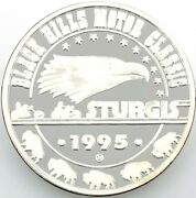 1995 Black Hills Motor Classic Sturgis .999 Silver 1 Ozt. With Capsule 1140