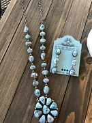 Golden Hill Turquoise And Sterling Navajo Necklace Set