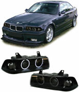 Angel Eye Headlights Headlamps For Bmw E36 3 Series Coupe Cabrio Ccfl 1990-1998