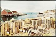 Lobster Traps Ready To Go Postcard Ontario Canada Water Dock .39 Stamped Old