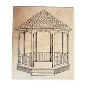 Stampington And Co Wooden Rubber Stamp ... Large Gazebo