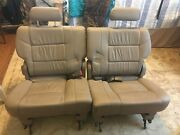 01 02 03 04 05 06 07 Toyota Sequoia 3rd Third Row Seats Tan Leather Like New Con