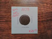 1878 Indian Head Cent Estate Collection Uncleaned Coin