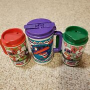 Lot Of 3 Pepsi Thermo Travel Mug, Made In Usa Vintage. Albuquerque Balloon Fest