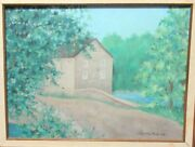 Annette M. Lange An Old Mill In Chester Original Oil On Canvas Painting