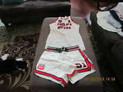 1962 Mike Moran Phillips 66ers Nibl Basketball Game Used Jersey And Shorts
