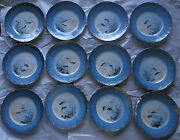 Old Theo. Haviland Limoges 12 Fish Plates Set Hand Painted Signed B. Albert 9